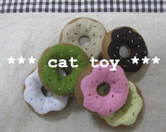 2 felt catnip donut your choice (cat toy)