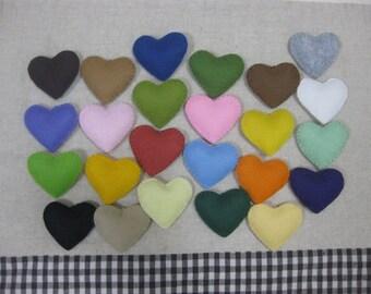 6 felt heart ornament your choice