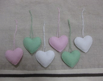Felt heart ornament (princess mix)