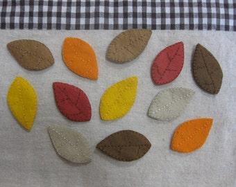 Felt autumn leaves