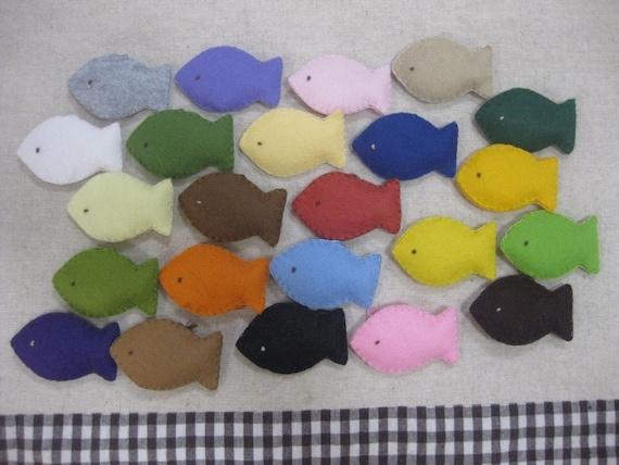 6 felt fish ornament your choice