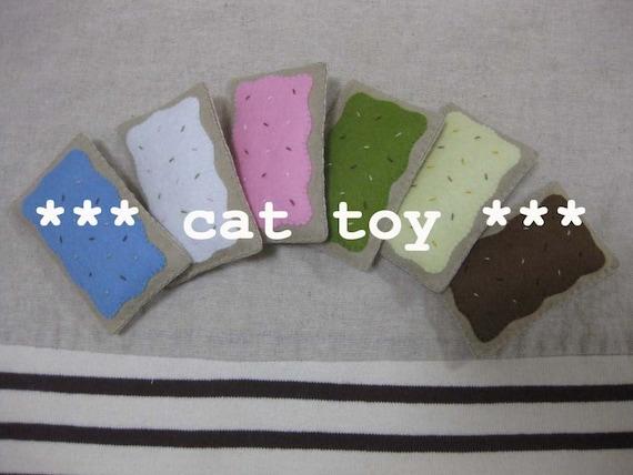 2 felt catnip pastry your choice (cat toy)