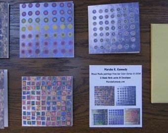 Notecard Set Minimalism Modern Squares