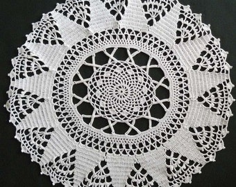 Round Crocheted Vintage Doily
