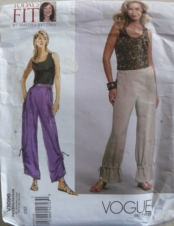 Vogue 1096 Misses' Pants in all sizes