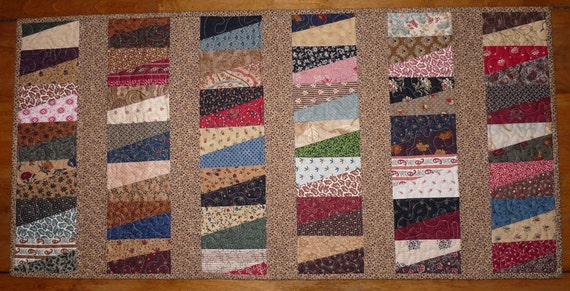 Scrappy Quilted Table Runner