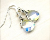 Crystal Clear Swarovski Briolette Dangle Earrings