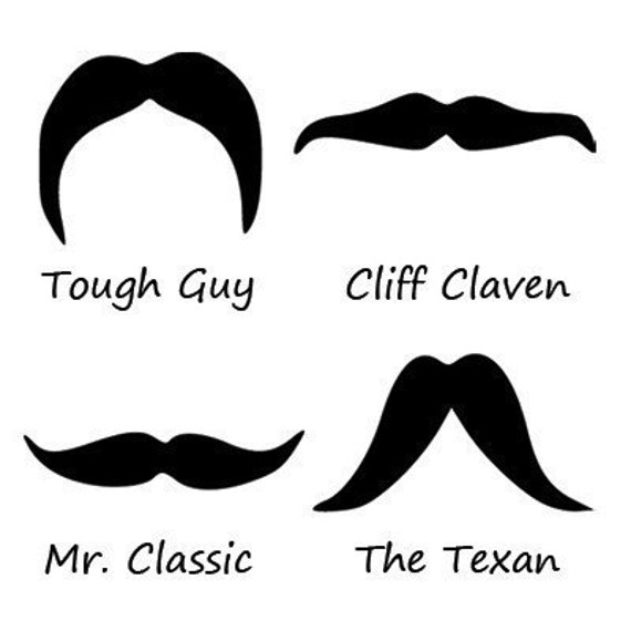 Movember Special - Mirror Mustaches Set of 4 Decals