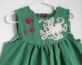 SALE - Green Octopus Dress