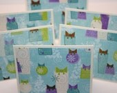 Set of 6 Gift Mini Cards - Gift Enclosure - Christmas Card - Small Card - Gift Tag - Christmas Tag - Present