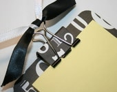Black and White Number Post It Note Holder - Sticky Note Holder - Sticky Pad - post it holder - stocking stuffer