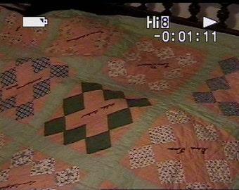 Vintage Handsewn Friendship Quilt> Mid-Century Textile>