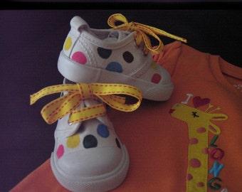 Colorful Polka dot shoes