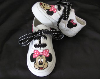 Hand painted Minnie Mouse shoes