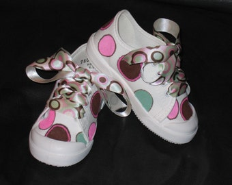 Brown, seafoam green and pink Euro retro shoes
