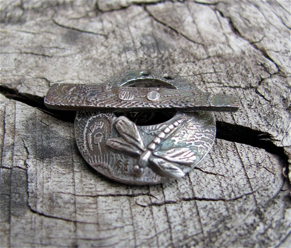 Fine Silver Dragonfly Toggle