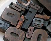 Vintage Letterpress Letters - 5 Dollars Each - Your choice