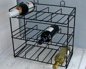 Vintage Wine Rack - Mid-Century Modern - Wall Hung or Counter Top