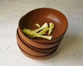 6 Vintage Agatized Bowls - Ellinger Wood Composite