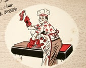 4 BBQ Trays - Serve Hamburgers Brats Hot dogs - 1950s Kitsch - Father's Day - BeeJayKay