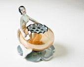 Mermaid Flower Frog -Rare Vintage Lusterware - BeeJayKay