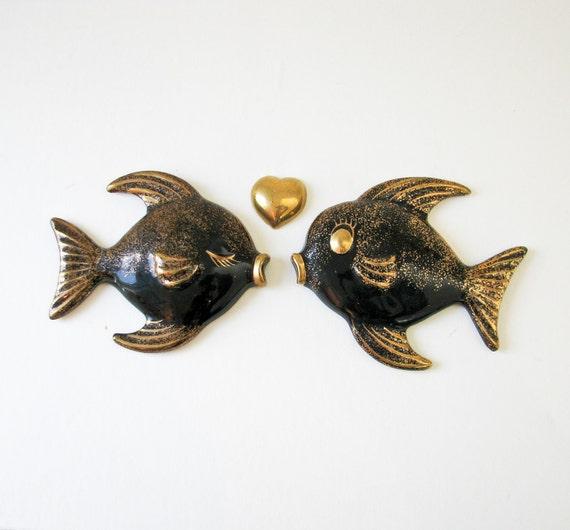 Vintage Kissing Fish - Wall Art - Lefton Co.