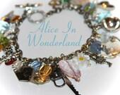 Christmas Sale Sale- Alice In Wonderland Charm Bracelet