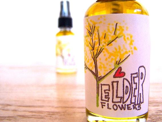elderflower oil . locally gathered