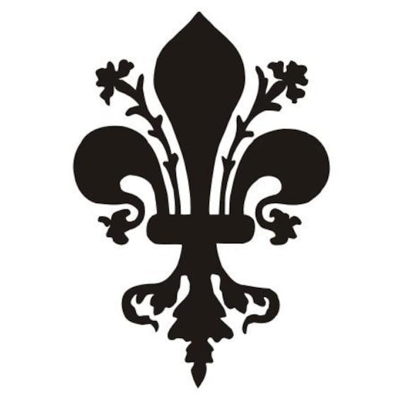 Medieval Florence fleur-de-lys black vinyl decal