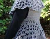 Crochet Shrug Vest in a Victorian Style  Small to 6X Plus Size DIGITAL PDF PATTERN 1210