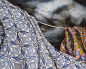 Tossed By The Sea Storm Quilt limited edition giclee print - HelenKlebesadelArt