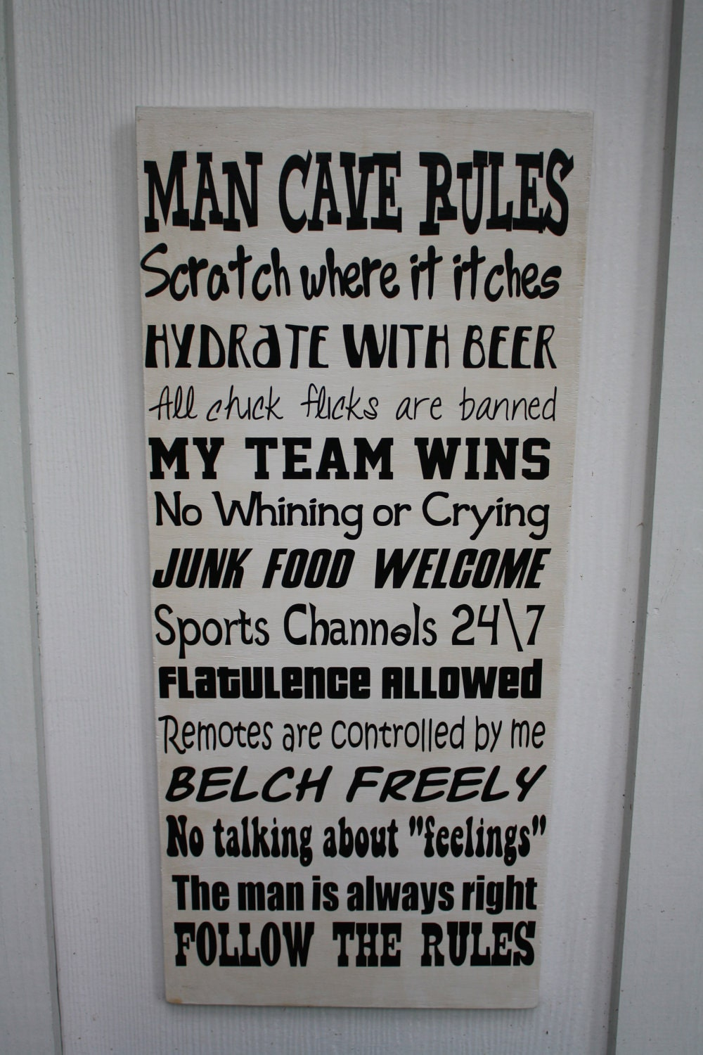 Man Cave Rules Sign Australia : Etsy your place to buy and sell all things handmade