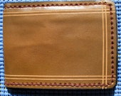 Leather Wallet Hand Carved And Stitched