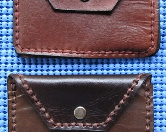 Leather Coin Case Hand Tooled & Hand stitched with Waxed Thread.