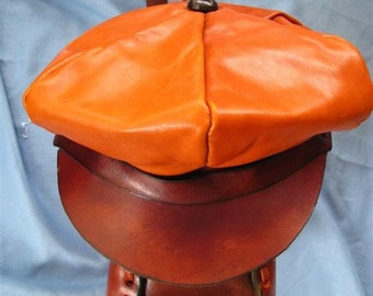 Leather Hat All Hand Stitched With Heavy Waxed Thread