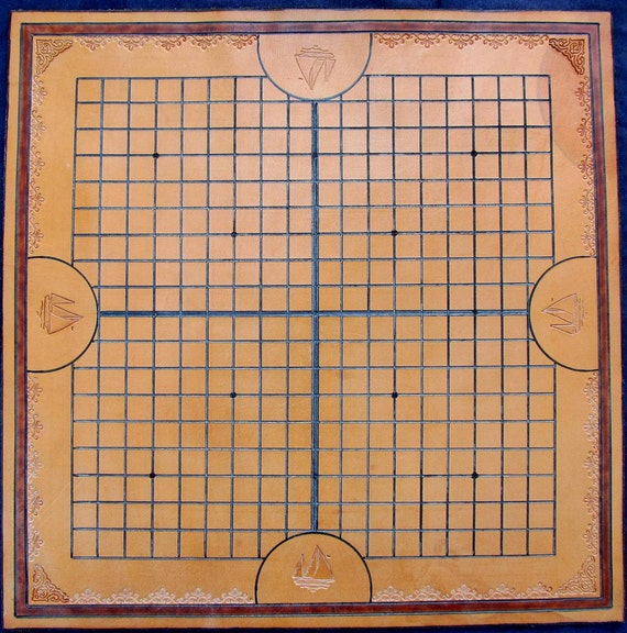 Leather Hand Tooled and Carved Pente Board Sale 50.00 Dollars Off