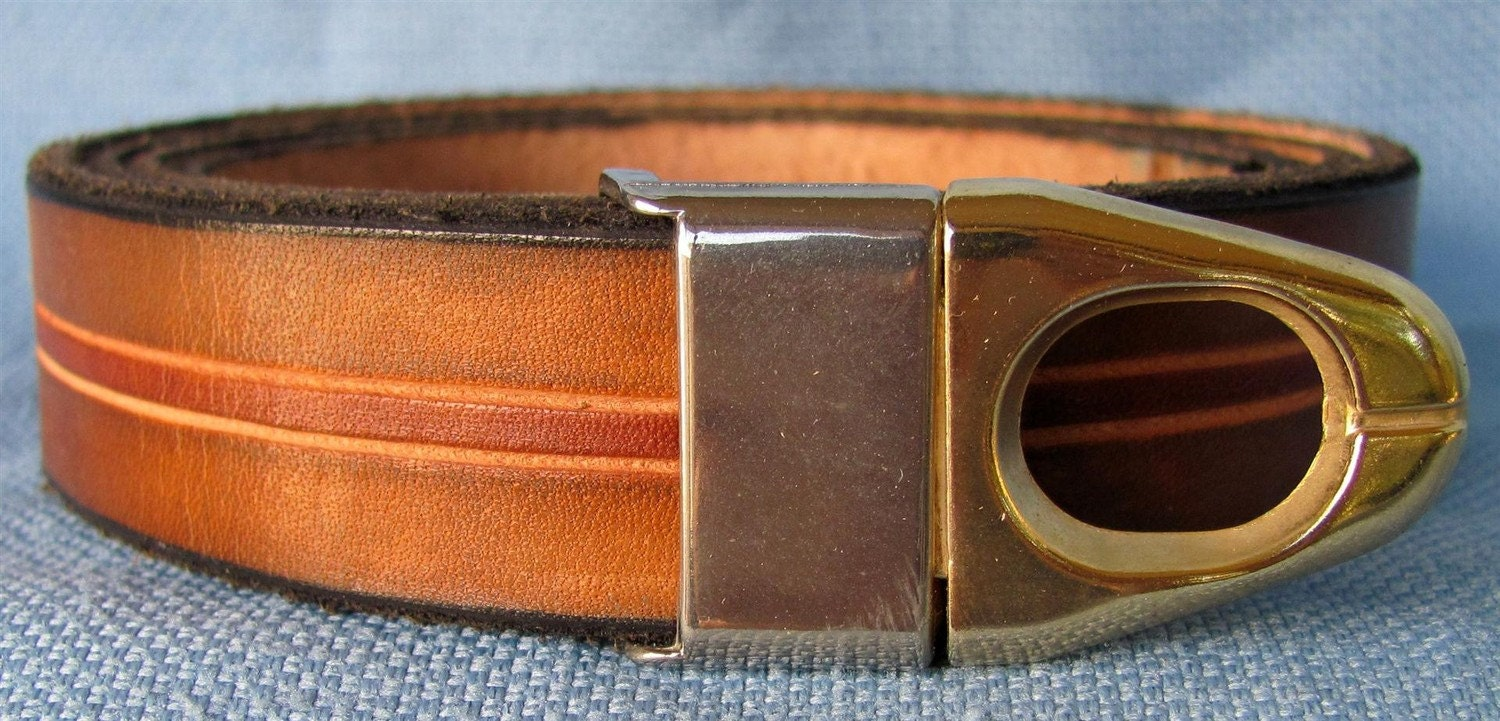 Wide leather belt hand carved and dyed custom fit free