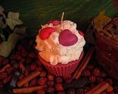 Red Hot Cinnamon Cupcake Candle