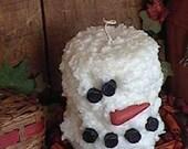Snowman Pillar Candle
