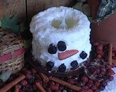 Grubby Snowman Electric Candle