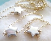 2-Tone Gold and Silver Mamma Mia Star Necklace