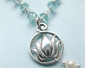 """Silver Lotus Necklace - """"Lotus Dream"""""""