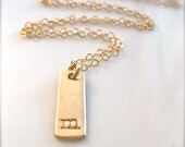 """Delicate Charm Necklace - """"The Short Bar Initial in Gold"""""""