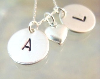 Initial Love in Sterling Silver
