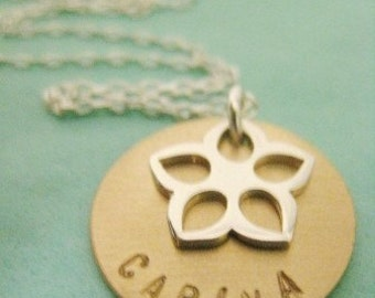 BELOVED - Two Tone Personalized Necklace