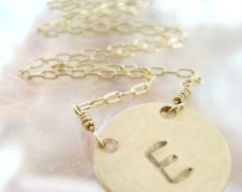The Lucky Initial Necklace in Gold