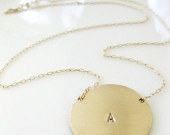 """Gold Initial Pendant Necklace -"""" Initial Drama """""""