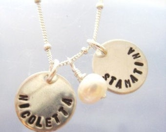 Pretty Little Names in Sterling Silver - DOUBLE