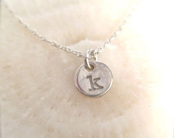 "Delicate Necklace - ""Initial Droplet"" in Silver - featured on YOUTUBE's SATURDAYNIGHTSALRITE"