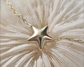 "Tiny Gold Star Necklace -""Little Light"""